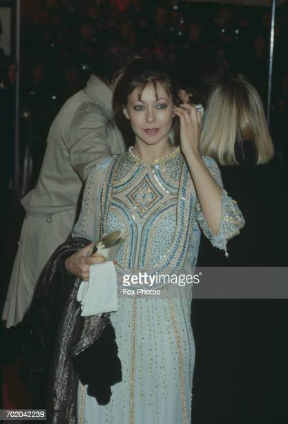British actress Jenny Agutter arrives at the Odeon Leicester Square for the premiere of the film 'A Passage To India' 18th March 1985