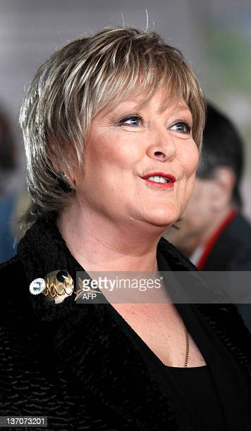 British actress Jenny Hanley smiles at the opening of a press preview of the Bond in Motion exhibition at the Beaulieu National Motor Museum at...