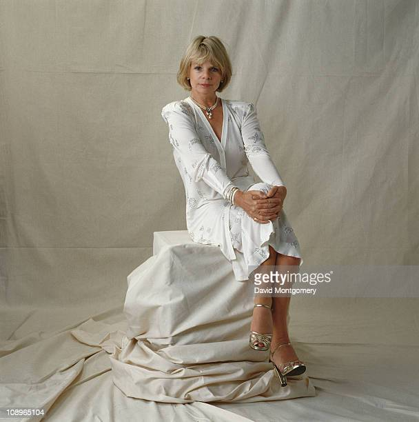 British actress Jill Bennett attends a performance of 'The Pirates of Penzance' at the Theatre Royal in London July 1982