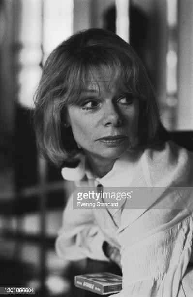 British actress Jill Bennett with a box of Gitanes, UK, 25th May 1973.