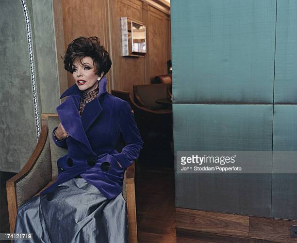 British actress Joan Collins circa 2000