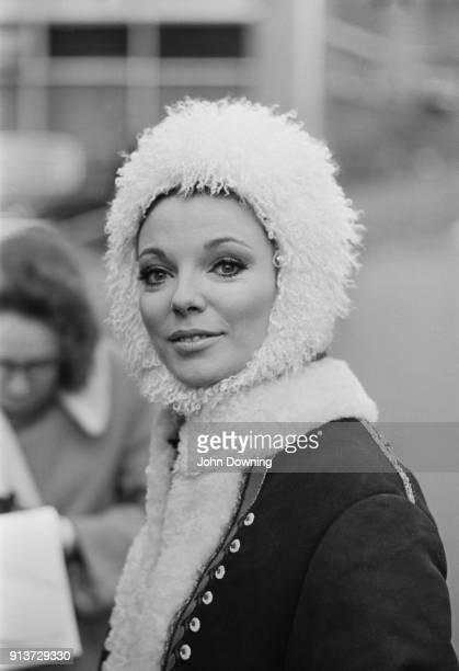 British actress Joan Collins on the set of British espionage film 'Subterfuge' UK 26th January 1968