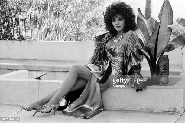 British actress Joan Collins pictured in Los Angeles California Star of the hit series Dynasty 21st January 1986