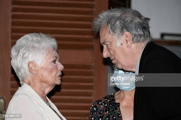 British actress Judi Dench and British director Stephen Frears attends to Closing Ceremony of Atlantida Mallorca Film Fest 2021 on August 01, 2021 in...