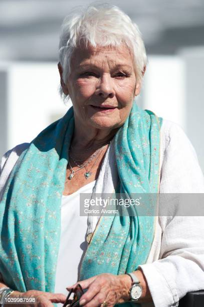 British actress Judi Dench attends the Donostia Award photocall during the 66th San Sebastian International Film Festival on September 25 2018 in San...
