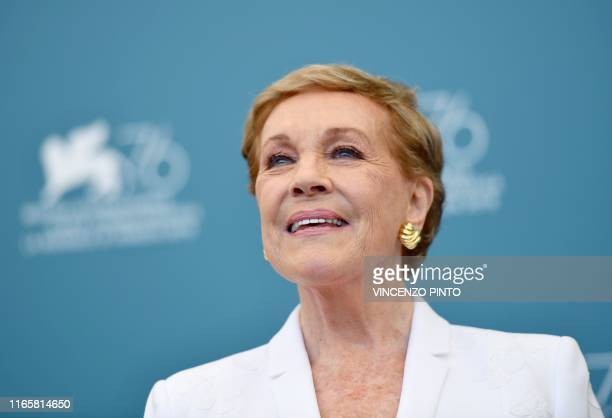 British actress Julie Andrews poses during a photocall on September 3 2019 at the 76th Venice Film Festival at Venice Lido