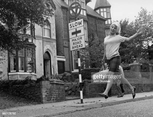 British actress Julie Christie near her home in Birmingham UK 7th October 1963