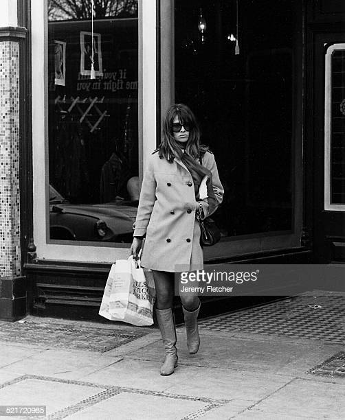 British actress Julie Christie shopping on the Kings Road London 1968
