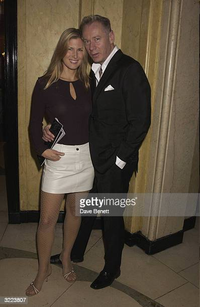 British actress Julienne Davis and husband arrive at the Harper and Moet Awards 2003 held at Claridges Hotel on November 3 2003 in London