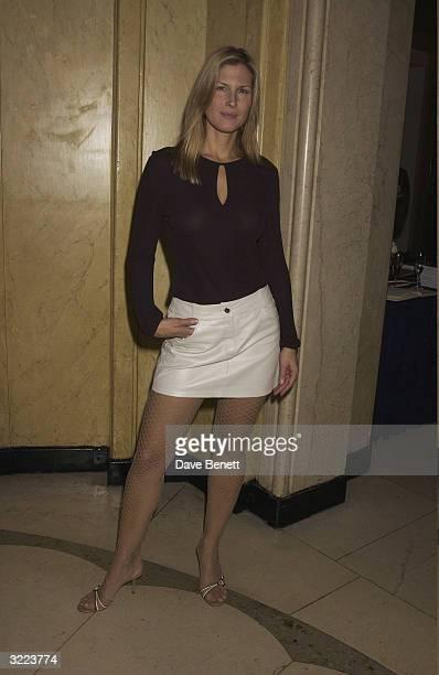 British actress Julienne Davis arrives at the Harper and Moet Awards 2003 held at Claridges Hotel on November 3 2003 in London