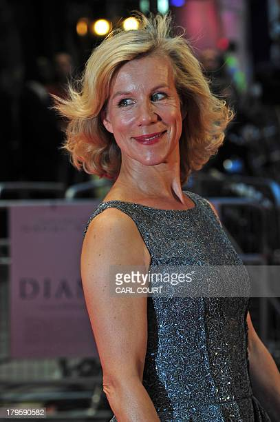 British actress Juliet Stevenson attends the world premiere of Diana in central London on September 5 2013 The film is a biopic of the late princess...