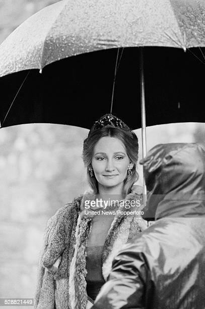 British actress Karen Dotrice pictured in costume as Alex during filmimg of the feature film The ThirtyNine Steps in Dumfries Scotland on 27th...