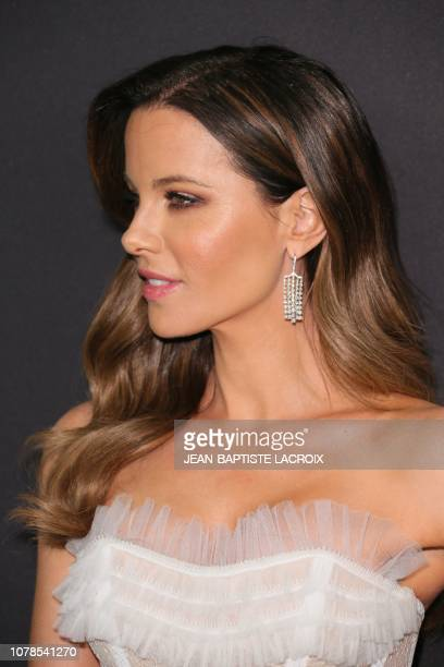 British actress Kate Beckinsale arrives for the Warner Bros and In Style 20th annual post Golden Globes party at the Oasis Courtyard of the Beverly...