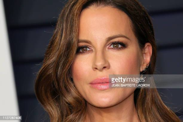 British actress Kate Beckinsale attends the 2019 Vanity Fair Oscar Party following the 91st Academy Awards at The Wallis Annenberg Center for the...
