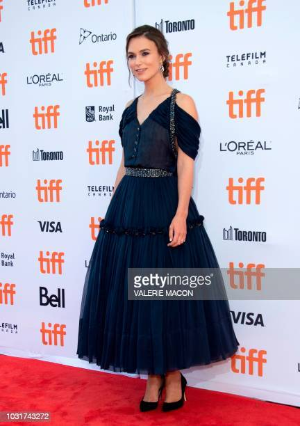 British actress Keira Knightley attends the premiere of Colette during the Toronto International Film Festival on September 11 in Toronto Ontario...