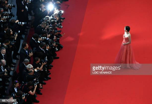 British actress Kristin Scott Thomas arrives on May 23 2017 for the '70th Anniversary' ceremony of the Cannes Film Festival in Cannes southern France...