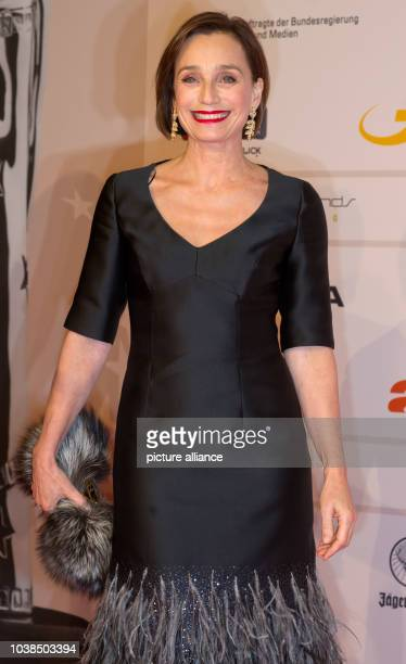 British actress Kristin Scott Thomas arrvies for the 26th European Film Awards in Berlin Germany 7 December 2013 Photo Tim Brakemeier/dpa | usage...