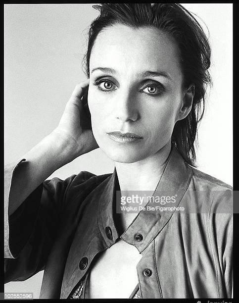 British actress Kristin Scott Thomas poses for Madame Figaro Magazine in Paris in January 2003 Ms Scott is wearing Giorgio Armani Published Image...