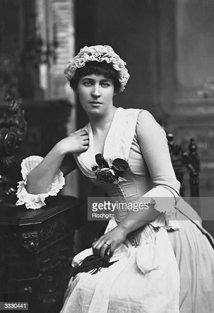 British actress Lillie Langtry as Kate Hardcastle in Oliver Goldsmith's play 'She Stoops To Conquer' at the Haymarket Theatre London