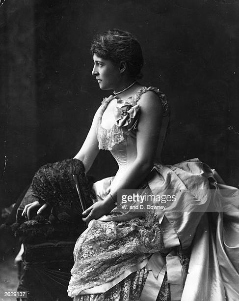 British actress Lillie Langtry known as the Jersey Lily after the title of Millais' portrait of her