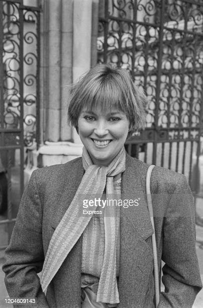 British actress Lynne Frederick at the Royal Courts of Justice in London England 5th March 1985 Frederick the widow of Peter Sellers has launched a...