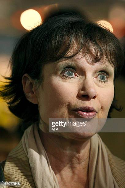 British actress Madeline Smith looks on at the opening of a press preview of the Bond in Motion exhibition at the Beaulieu National Motor Museum at...