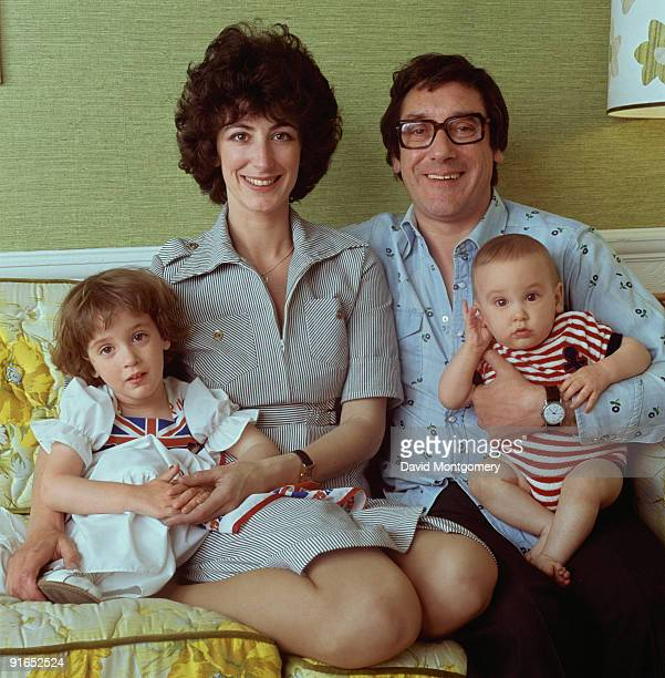 British actress Maureen Lipman with her husband playwright Jack Rosenthal and their children Amy and Adam