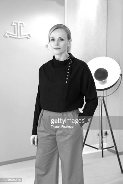 British actress Maxine Peake poses to promote her film 'Peterloo' in the JaegerLeCoultre Lounge at the 75th Venice Film Festival at Hotel Excelsior...