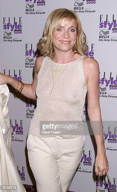 British actress Michelle Collins attends the Elle Style Awards on July 9 2000 in London