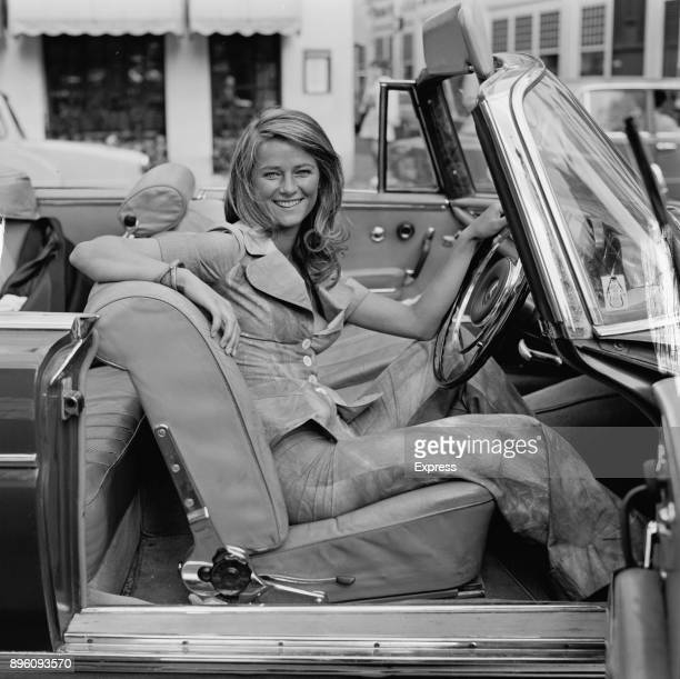 British actress model and singer Charlotte Rampling on a convertible car UK 30th August 1971