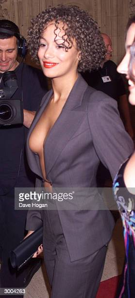 British actress Naomi Russell arrives at the National Television Awards at the Royal Albert Hall on October 22 2000 in London