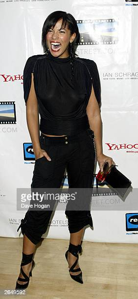 """British actress Naomi Russell attends the launch party for Kevin Spacey's new film company """"Trigger St"""" on November 26, 2002 in London."""