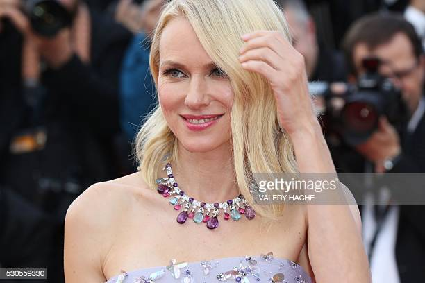 British actress Naomi Watts smiles as she arrives on May 11, 2016 for the opening ceremony of the 69th Cannes Film Festival in Cannes, southern...
