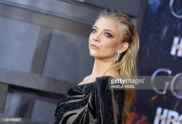 British actress Natalie Dormer arrives for the Game of Thrones eighth and final season premiere at Radio City Music Hall on April 3 2019 in New York...