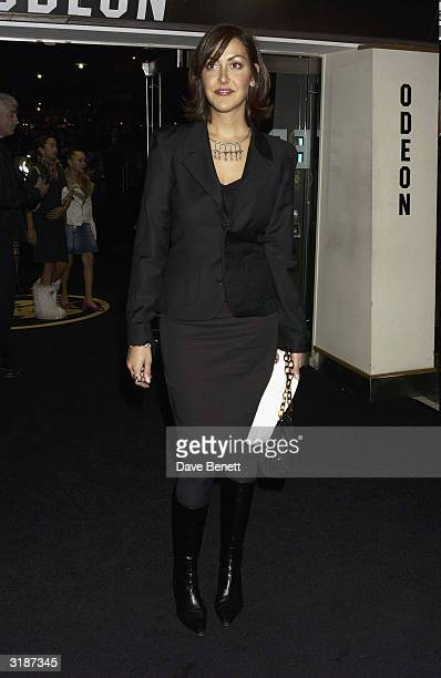 British actress Natasha Caine arrives at the UK premiere of the film Gumball 3000 held at the Odeon Cinema Leicester Square on November 20 2003 in...