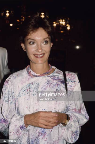 British actress Nicola Pagett at the premiere of the film 'The Color Purple' in London, UK, 10th July 1986.