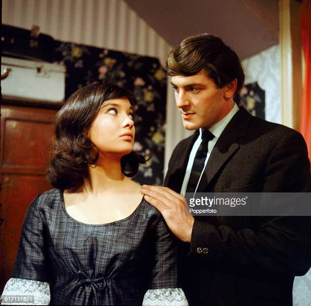 British actress Nicola Pagett pictured in a scene with actor Peter Purves in the television drama 'The Girl in the Picture' in 1964.