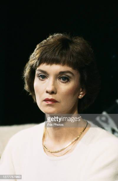 British actress Nicola Pagett stars in 'Old Times', a new production of the play by Harold Pinter, UK, 18th April 1985.