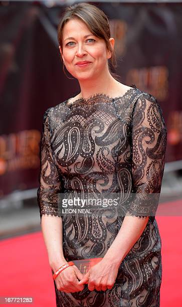 British actress Nicola Walker arrives for the Lawrence Olivier Awards for theatre at the Royal Opera House in London on April 28, 2013. AFP...