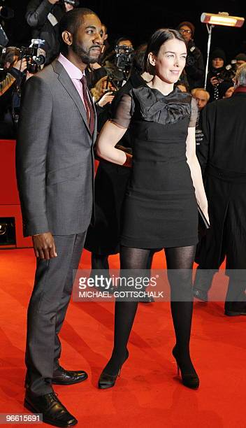 British actress Olivia Williams and US actor Rhashan Stone arrive on the red carpet ahead of the premiere of the movie The Ghost Writer by Roman...