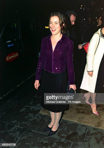 British actress Olivia Williams who starred in the film The Sixth Sense arriving at the Evening Standard Film Awards at the Savoy Hotel in London
