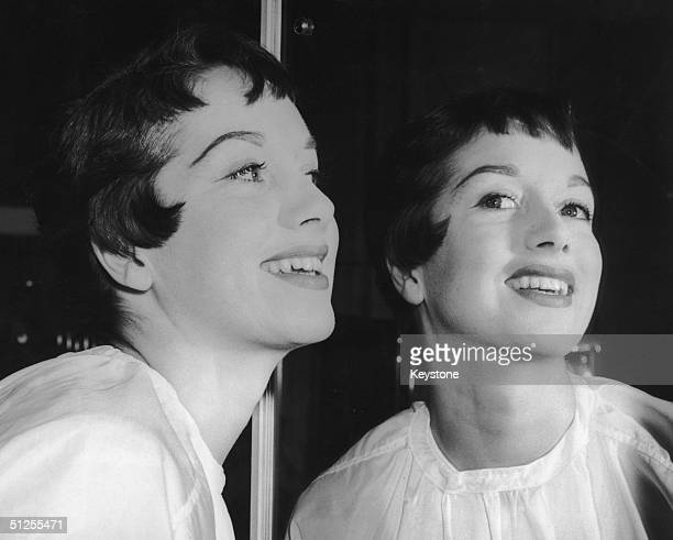 British actress Pat Kirkwood sports a gamine hairstyle for her role as Peter Pan in an upcoming production at the Scala Theatre 10th December 1953