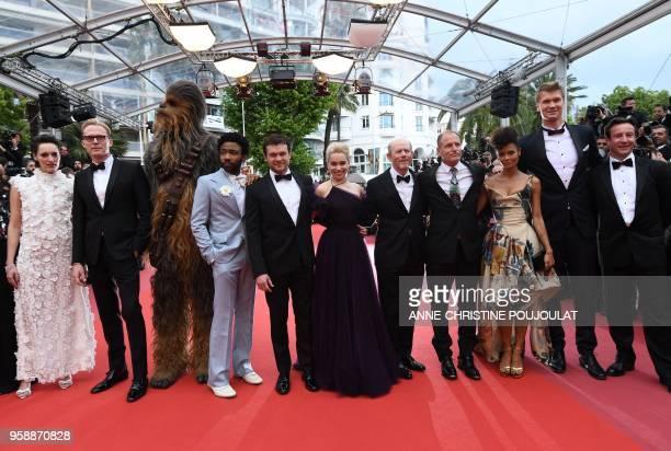 British actress Phoebe WallerBridge British actor Paul Bettany Chewbacca US actor Donald Glover US actor Alden Ehrenreich British actress Emilia...