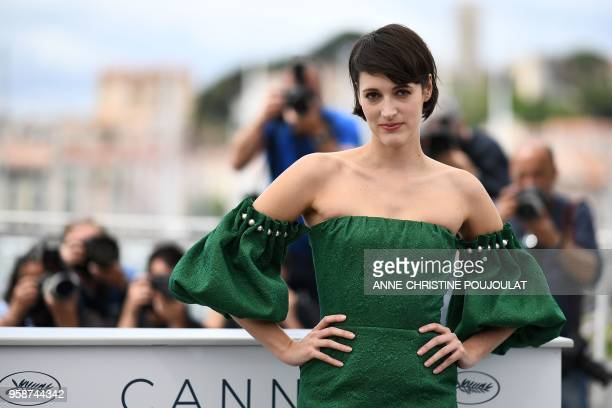 British actress Phoebe WallerBridge poses on May 15 2018 during a photocall for the film Solo A Star Wars Story at the 71st edition of the Cannes...
