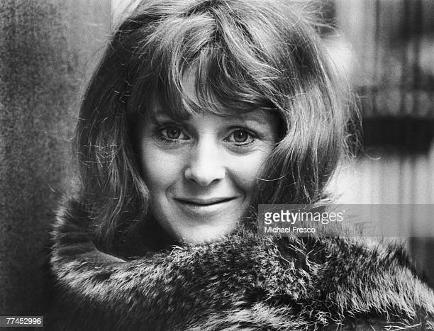British actress Polly James, the star of British sitcom 'The Liver Birds', takes time out to appear in 'Much Ado About Nothing' at the Aldwych, 17th...