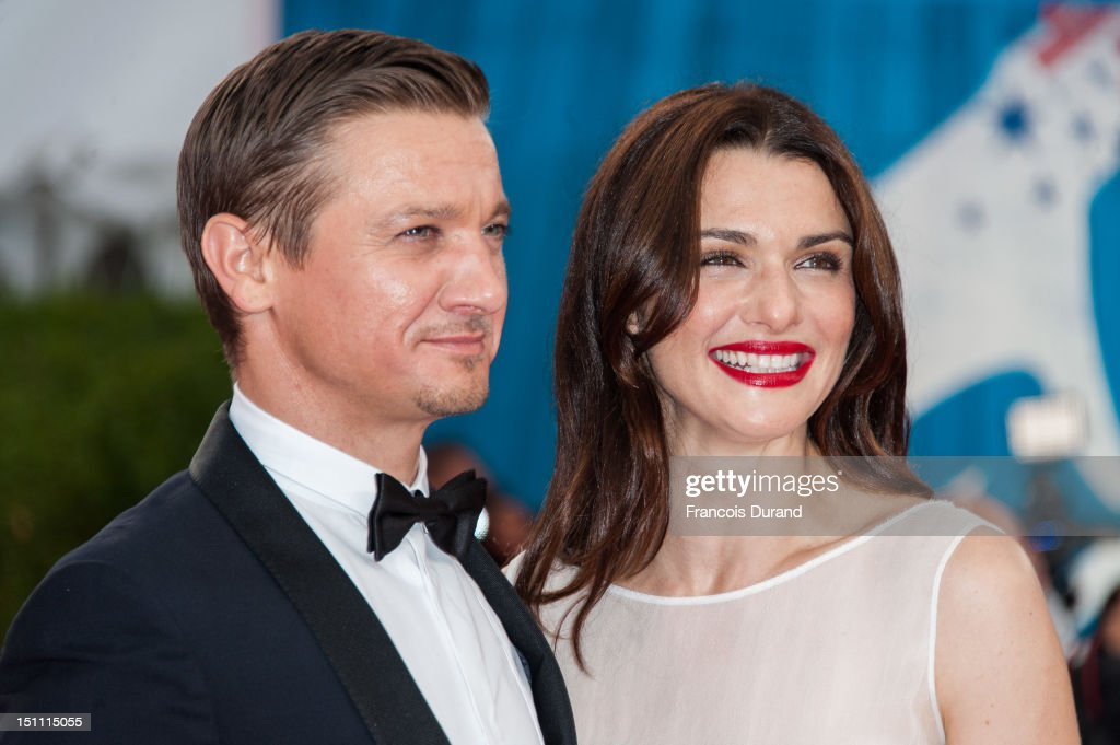 British actress Rachel Weisz and U.S actor Jeremy Renner arrive for the premiere of the film 'The Bourne Legacy' during 38th Deauville American Film Festival on September 1, 2012 in Deauville, France.