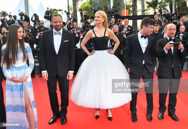 British actress Raffey Cassidy Greek director Yorgos Lanthimos Australian actress Nicole Kidman Irish actor Barry Keoghan and Irish producer Ed...