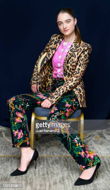 British actress Raffey Cassidy poses for a portrait session at Maria Cristina Hotel during 67th San Sebastian Film Festival on September 23 2019 in...