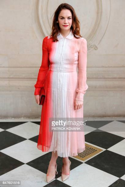British actress Ruth Wilson poses during the photocall before the Christian Dior women's FallWinter readytowear collection fashion show in Paris on...