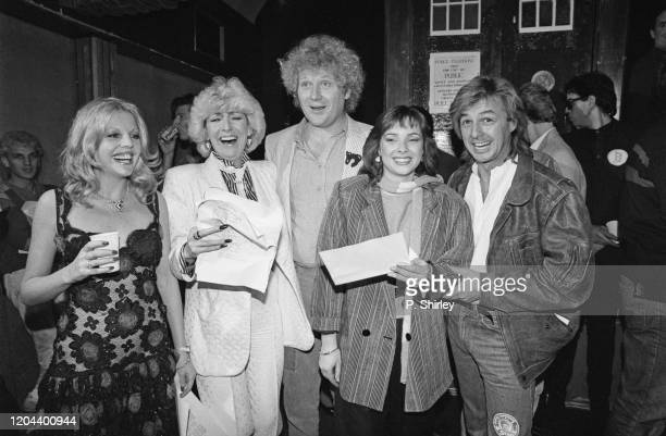 British actress Sally Thomsett British comedian and impressionist Faith Brown British actor Colin Baker British actress Nicola Bryant and British pop...